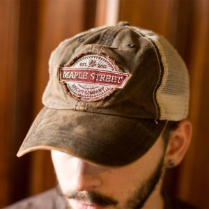 Maple Street Biscuit Company's Tan/Brown Ball Cap with Company Logo on front