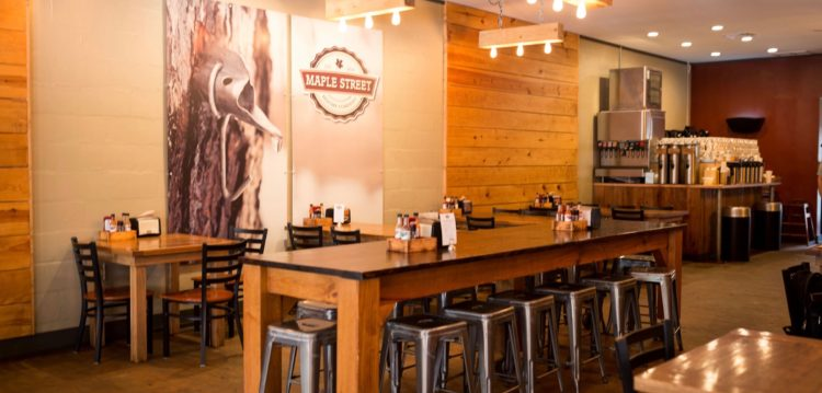 Dining room at Maple Street Biscuit Company's Old City store