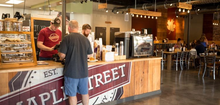 The Hub/service counter at Maple Street Biscuit's Killearn store