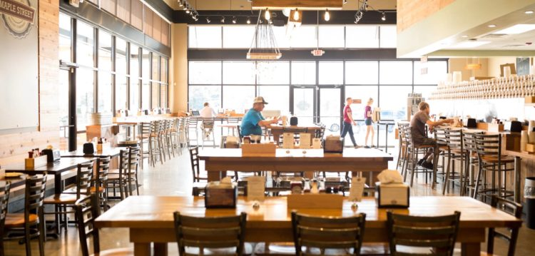 Interior photo of the Maple Street Biscuit Five Forks location