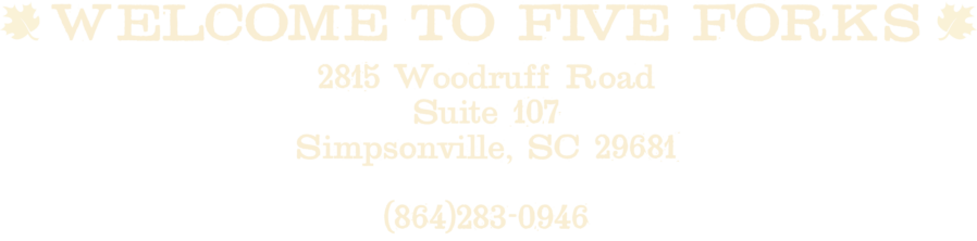 Five Forks Address and phone number