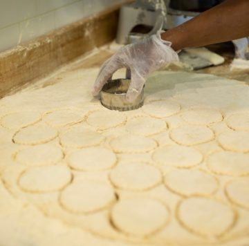 Making biscuits at the Maple Street Biscuit Company's Gunbarrel store