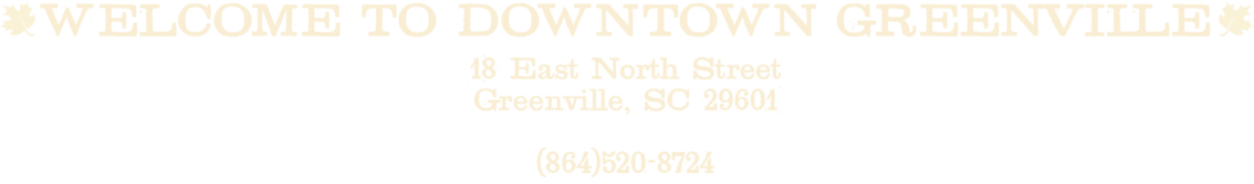Maple Street Downtown Greenville address and phone number