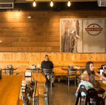 Dining room at Maple Street Biscuit Company's Woodstock store