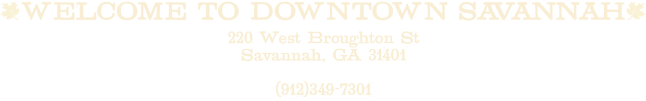Downtown Savannah address and phone number