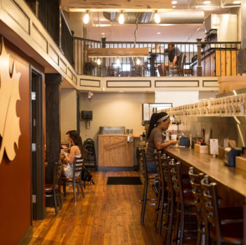 Photo of interior of the Downtown Savannah Maple Street Biscuit location