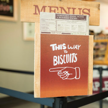 Menu stand from Concord location