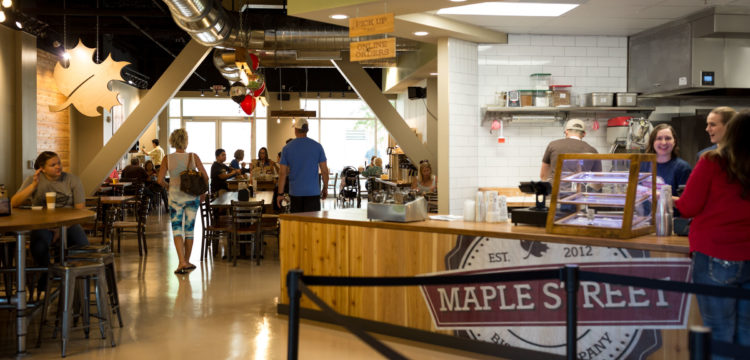 dining room at Maple Street Biscuit Company's Tioga store