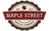 Maple Street Biscuit Company logo and Main navigation button to homepage