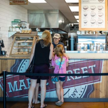 Interior photo of Hub/service counter at Maple Street Biscuit's Fleming Island store